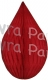 5 Inch Red Teardrop Ornament Decoration (12 pcs)