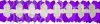 12 Foot Cross Garland Decoration Purple & White (12 pcs)