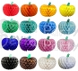 Tissue Paper Pumpkin Decoration, 10 Inch, ALL COLORS (12 pcs)