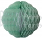 8 Inch Cool Mint and White Puff Ball Decoration (12 pcs)