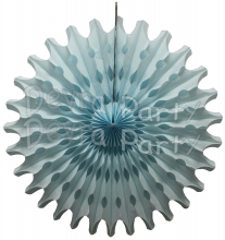 Light Blue 18 Inch Tissue Paper Fan (12 Pieces)