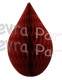 5 Inch Burgundy Rain Drop Ornament Decoration (12 pcs)