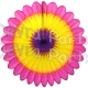 Cerise Yellow Purple Fanburst Decoration (12 pcs)