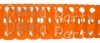 Orange Full Tissue Garland (12 pcs)
