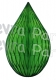5 Inch Lime Green Rain Drop Ornament Decoration (12 pcs)