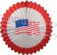 27 inch USA Flag Deluxe Fan (12 pcs)
