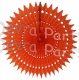 21 Inch Tissue Fan Orange (12 pcs)