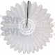 White Tissue Fanburst Decoration (12 pcs)