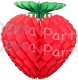 Honeycomb Strawberry Decoration, 16 inch (12 pcs)