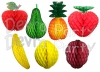Large Tissue Paper Fruit Honeycomb Decoration Kit (20 Pieces)