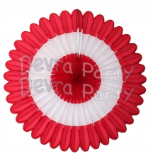 27 Inch Deluxe Fan Red White Red (12 pcs)