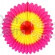 27 Inch Deluxe Fan Cerise Yellow Orange (12 pcs)