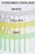 6 Foot Tissue Paper Streamer Garland (12 pcs)