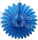 Tissue Fanburst Decoration Turquoise (12 pcs)