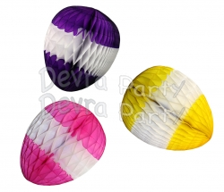 Honeycomb Easter Eggs 12 Inch Striped (12 pcs)
