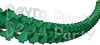 12 Foot Dark Green Oval Garland (12 pcs)