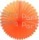 27 Inch Deluxe Fan Decoration Orange (12 pcs)