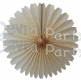 13 Inch Fan Decorations Classic and Vintage Ivory (12 PCS)