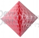 Pink Hanging Diamond Decoration (12 pcs)