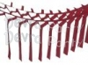 Burgundy Streamer Garland Decoration (12 pcs)
