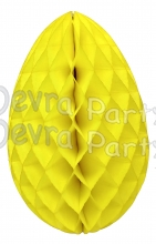 Yellow Honeycomb Easter Egg 18 Inch (6 pcs)
