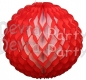 14 Inch Puff Ball Red and White (12 pcs)