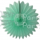 Hanging Tissue Fanburst Decoration Mint (12 pcs)