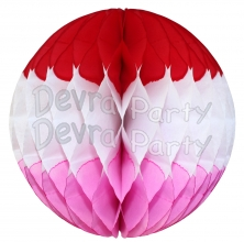 Valentine Red White Pink Honeycomb Ball Decoration (12 pcs)