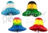 24 Inch Honeycomb Tissue Paper Bell Multi Colors (12 pcs)