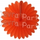 Honeycomb Fanburst Decoration Orange (12 pcs)