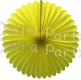 27 Inch Yellow Deluxe Fan Decorations (12 pcs)