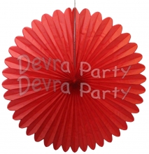 27 Inch Red Tissue Paper Deluxe Fan (12 pcs)