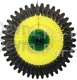 26 Inch Tissue Fan Jamaican Colors (12 pcs)