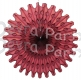 Maroon 18 Inch Hanging Party Fans (12 pieces)