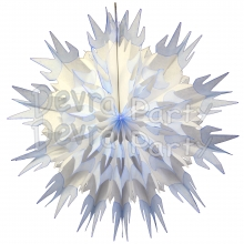 27 Inch Tissue Paper Snowflake Decoration (12 pcs)