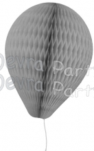 11 Inch Gray Paper Balloon Decoration (12 pieces)