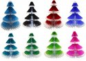 12 Inch Honeycomb Tissue Paper Frosted Tree (12 pcs) -ALL COLORS