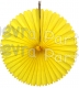13 Inch Fan Decorations Yellow (12 PCS)