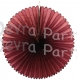 13 Inch Fan Decorations Maroon (12 PCS)