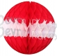 Red White Honeycomb Paper Ball (12 pcs)