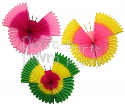 22 Inch Art Tissue Hanging Butterfly Decoration (6 pcs)