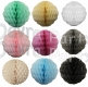 Solid Honeycomb Puff Ball, 8 Inch (12 pcs)