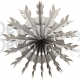 15 Inch Gray Tissue Paper Snowflake Decoration (12 pcs)