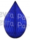 5 Inch Dark Blue Rain Drop Ornament Decoration (12 pcs)