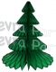 17 Inch Honeycomb Tissue Paper Tree- Classic Dark Green (12 pcs)