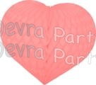 Heart Decoration 18 Inch Pink (12 pcs)