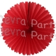 13 Inch Fan Decorations Red (12 PCS)