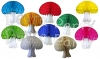 Multi-Colored 16 Inch Honeycomb Mushroom Decorations (6 pcs)