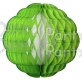14 Inch Puff Ball Lime and White (12 pcs)