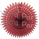 21 Inch Tissue Fan Maroon (12 pcs)